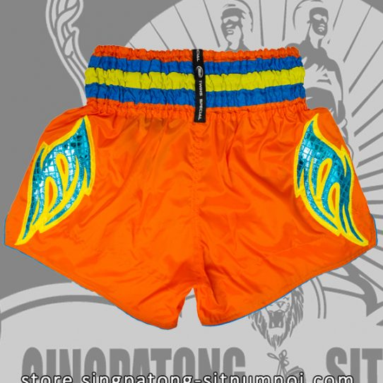 Muay Thai Shorts CLASSIC ORANGE back