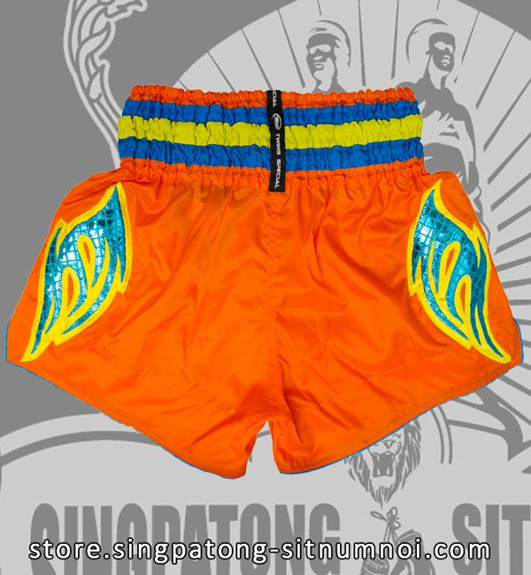 Muay Thai Shorts CLASSIC ORANGE back