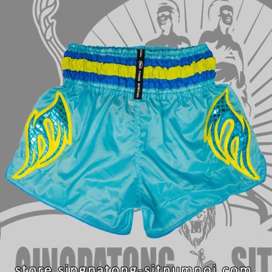 Muay Thai Shorts SINGPATONG CLASSIC SKYBLUE back