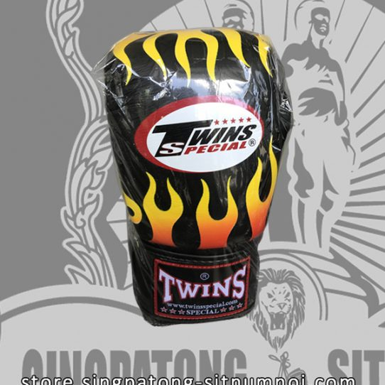 Twins Fancy Boxing Gloves BLACK FIRE FLAME