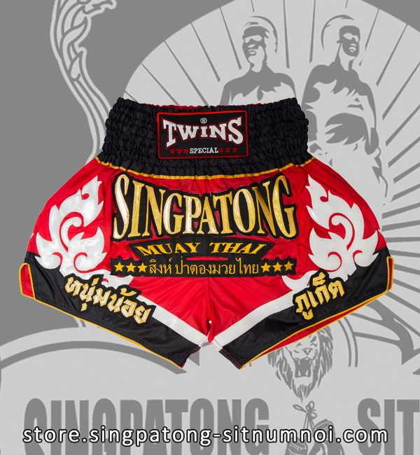 Twins Muay Thai Shorts TRIBAL RED