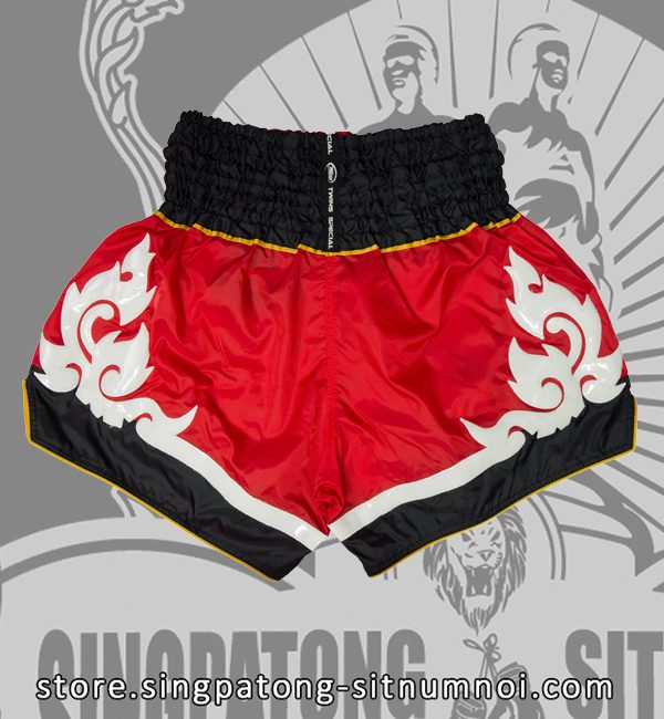 Twins Muay Thai Shorts TRIBAL RED back
