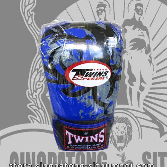 "Twins Fancy Boxing Gloves ""TRIBAL DRAGON BLUE"""