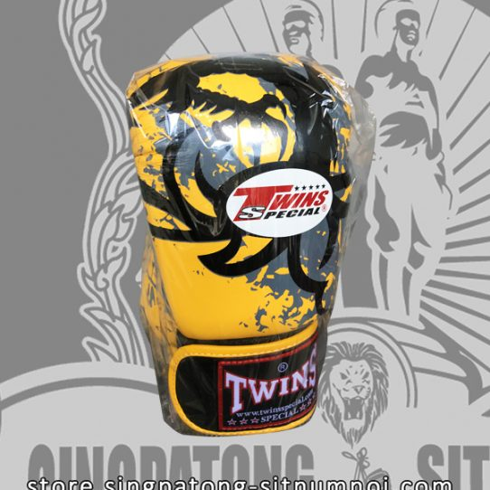 "Twins Fancy Boxing Gloves ""TRIBAL DRAGON YELLOW"""
